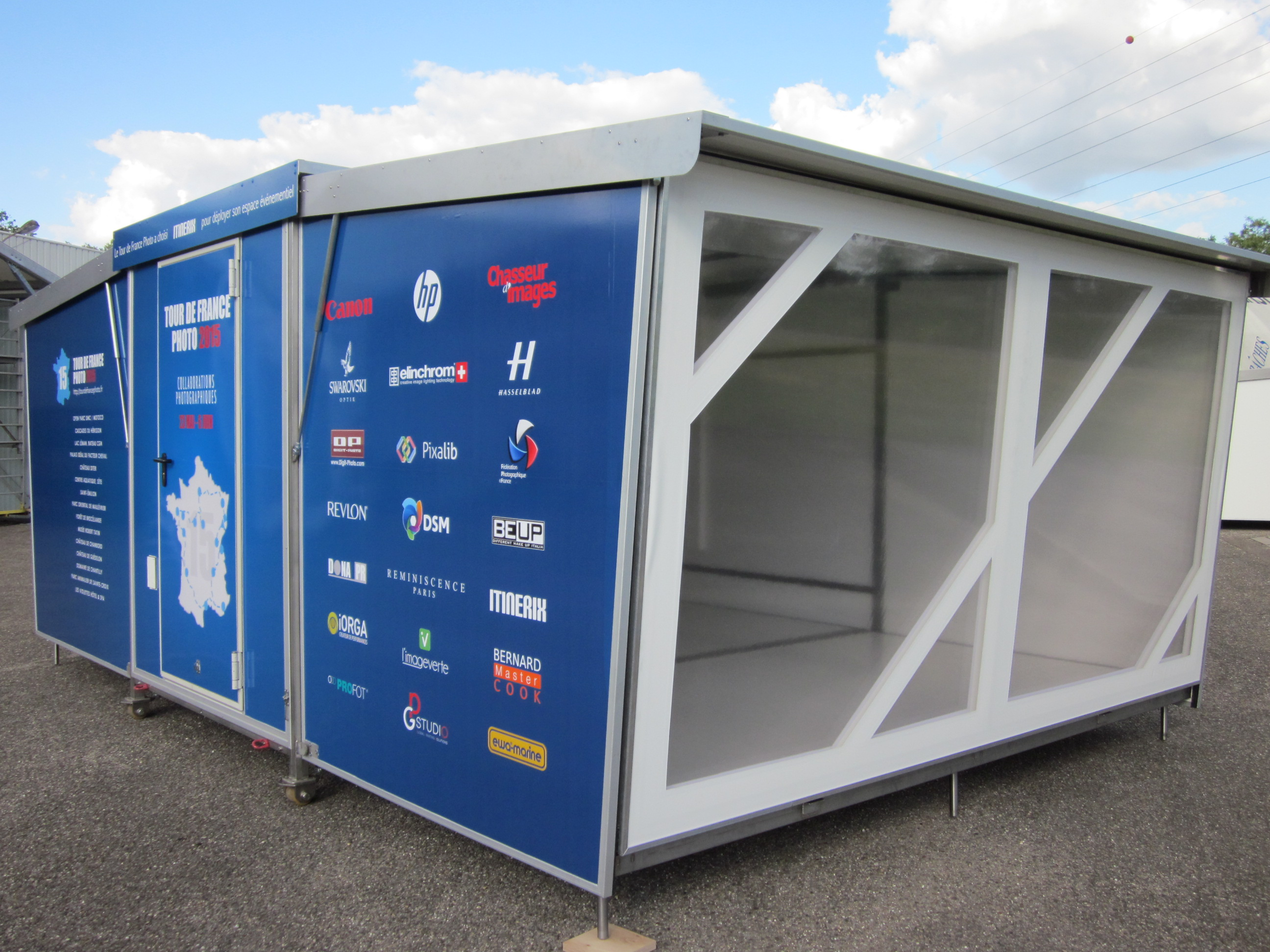 Stand container itinerix mobile modulable et pratique for Container modulable